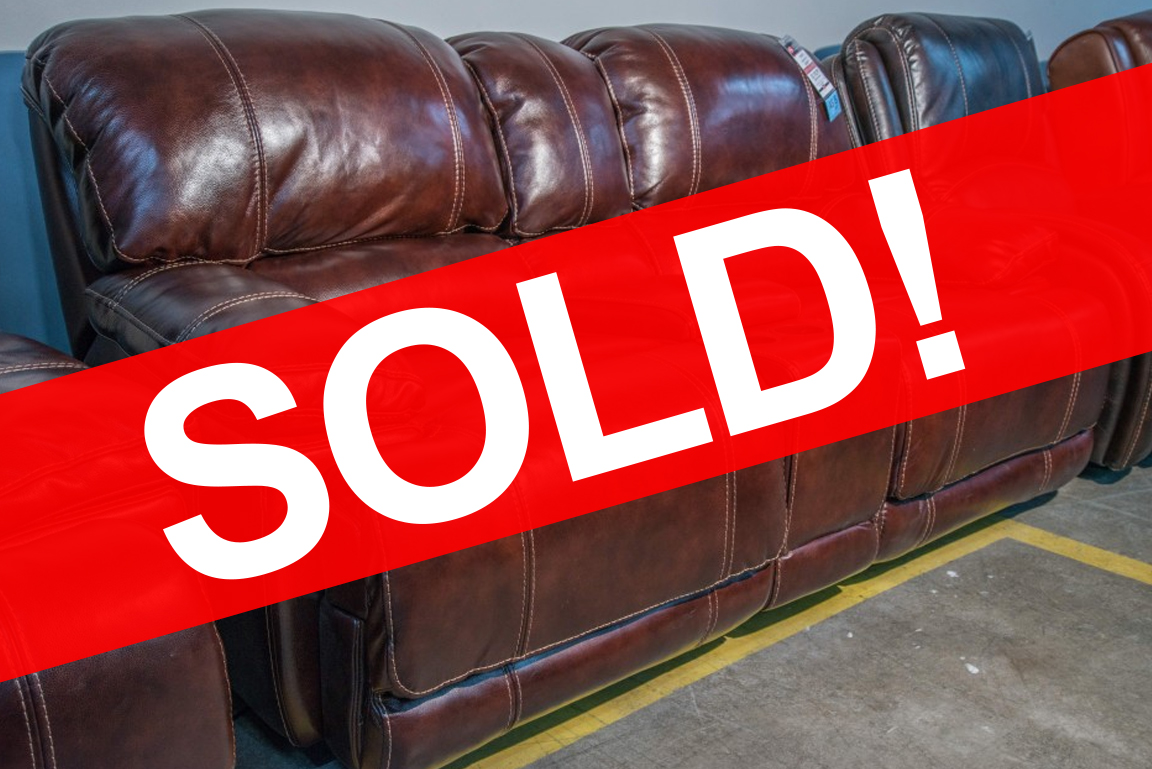 Belmont Flexsteel Leather Loveseat SOLD