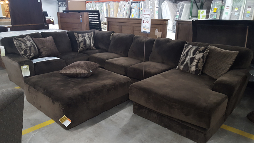 Everest Sectional Sofa with Chaise Lounge and Ottoman ...