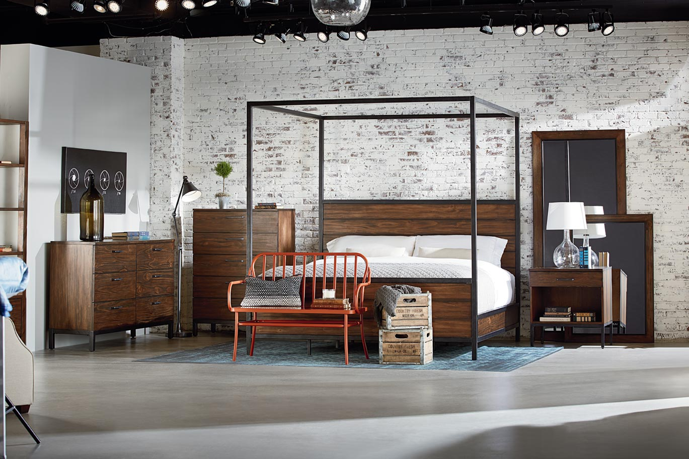 industrial bedroom furniture design ideas