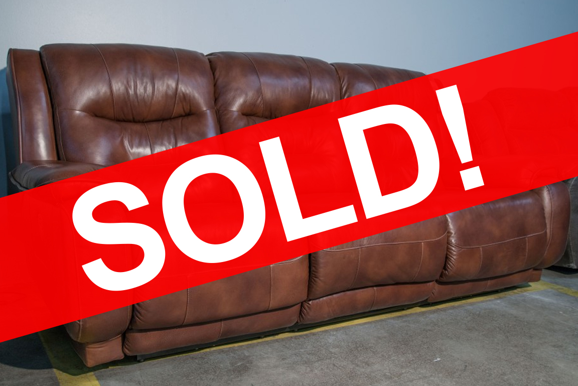 Southern Motion Crescent Power Reclining Leather Sofa SOLD