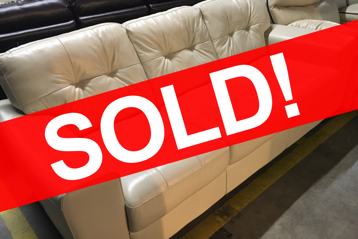 Remarkable Sold Soft Line Cream Leather Sofa 597 Bob Mills Caraccident5 Cool Chair Designs And Ideas Caraccident5Info