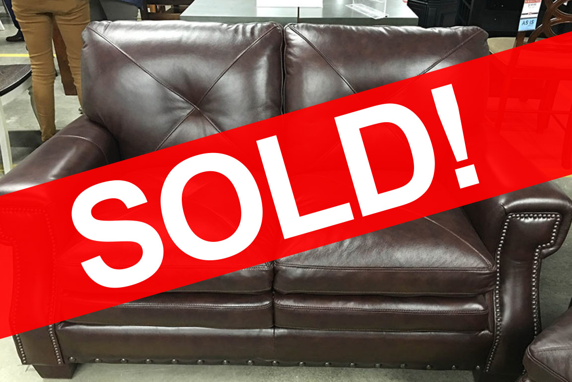 Kendall Leather Love Seat SOLD