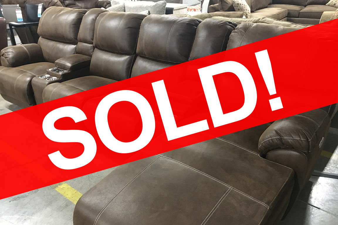Empire Chaise Powered Reclining Sectional Sofa with Massage ...