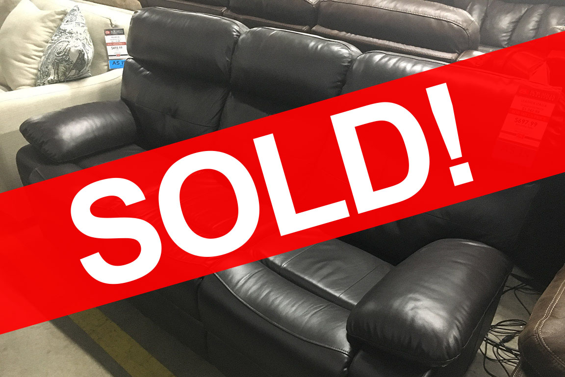 LEATHER ITALIA POWER RECLINING SOFA Sold